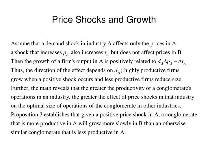 Price Shocks and Growth