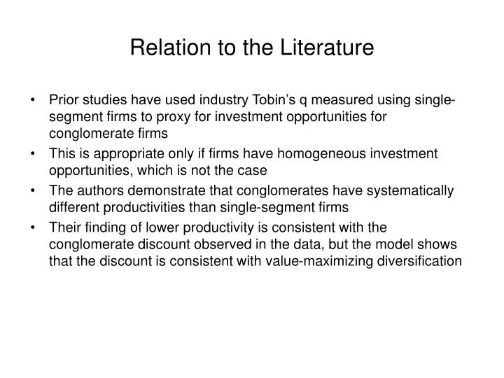 Relation to the Literature
