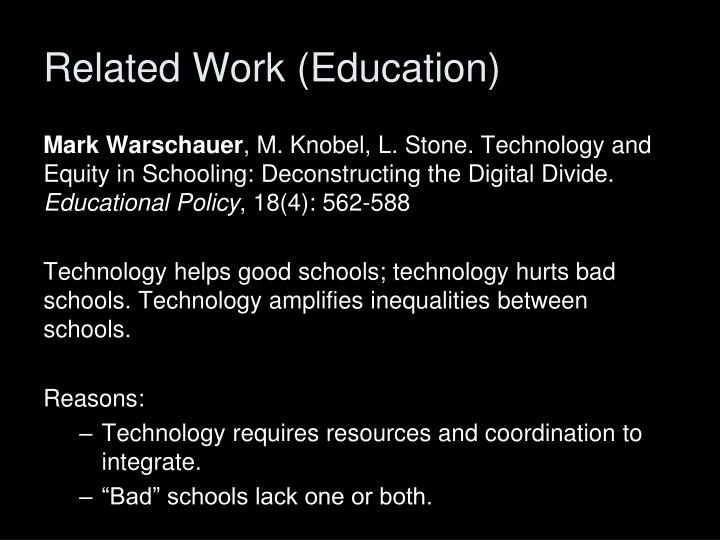 Related Work (Education)