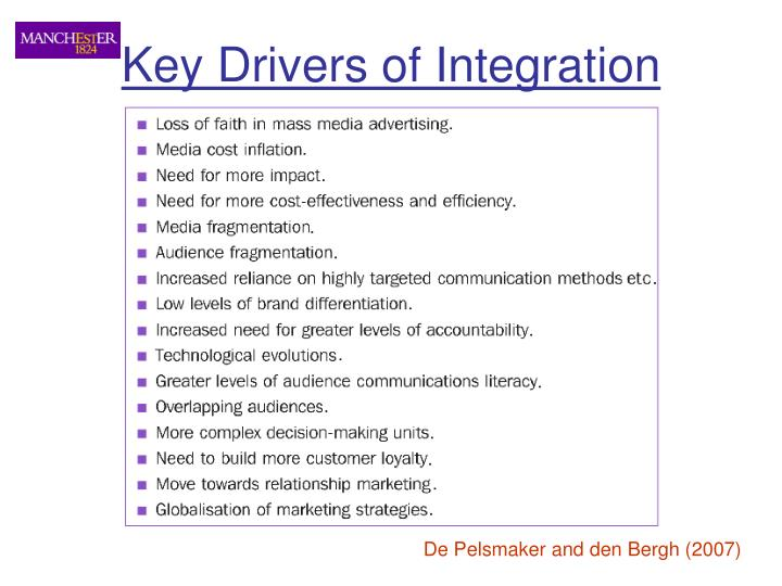 Key Drivers of Integration