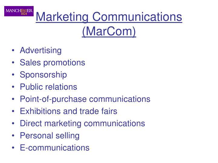 Marketing Communications (MarCom)