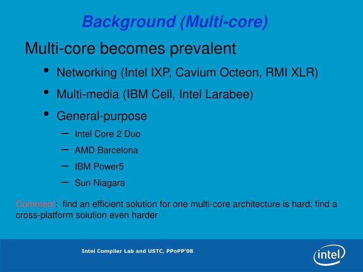 Background (Multi-core)