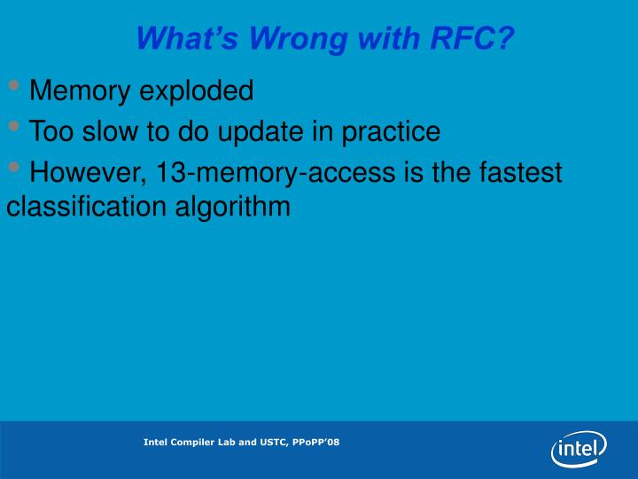What's Wrong with RFC?