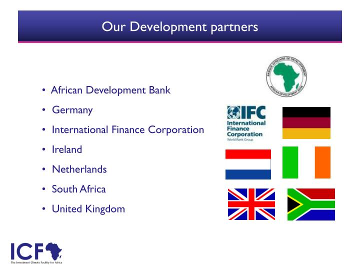 Our development partners