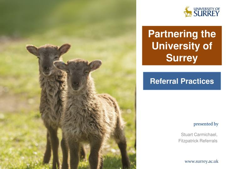 Partnering the university of surrey