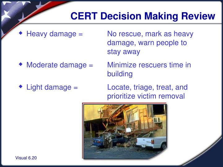 CERT Decision Making Review