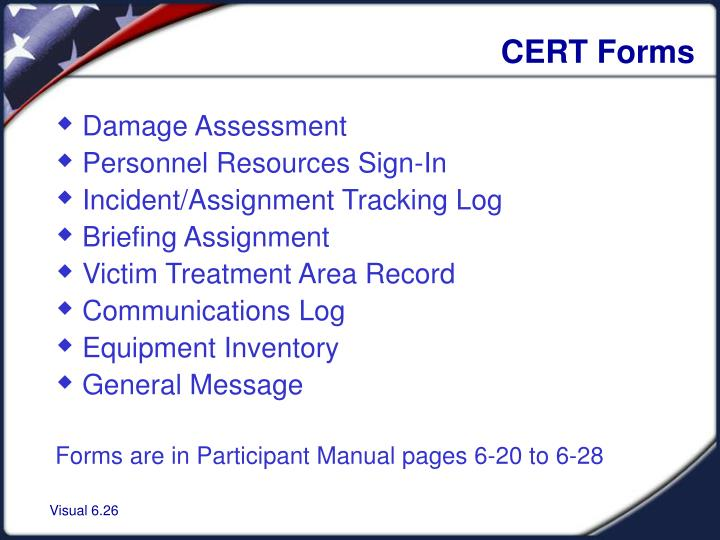 CERT Forms