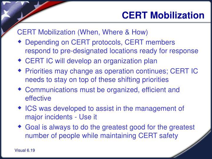 CERT Mobilization