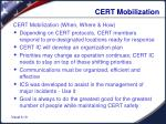 cert mobilization1