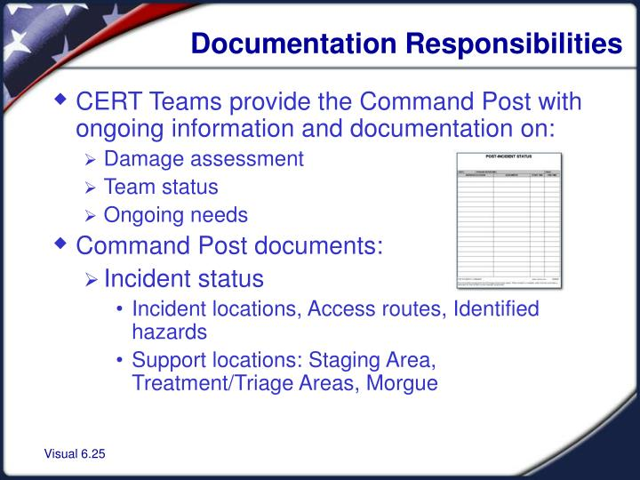 Documentation Responsibilities
