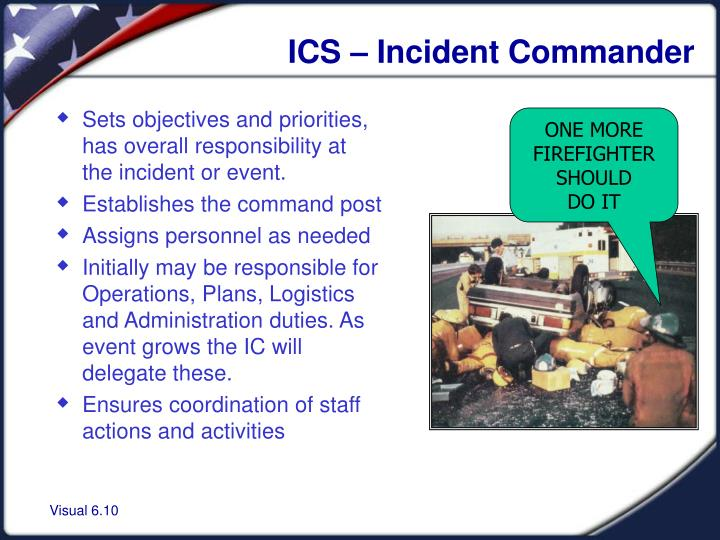ICS – Incident Commander