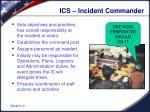 ics incident commander