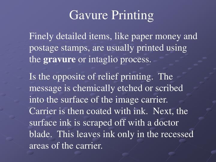Gavure Printing