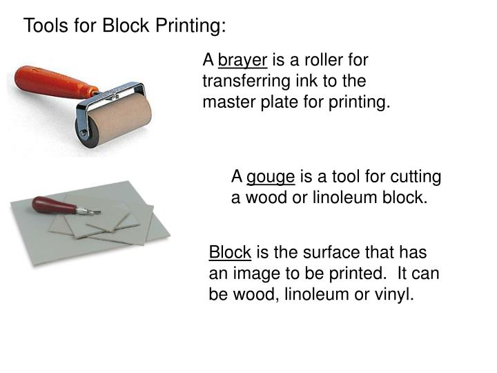 Tools for Block Printing: