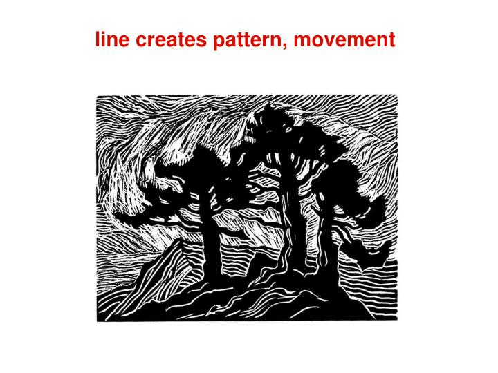 line creates pattern, movement