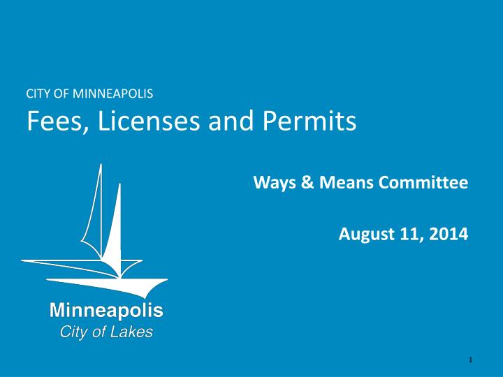 City of minneapolis fees licenses and permits