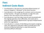 fees indirect costs basis