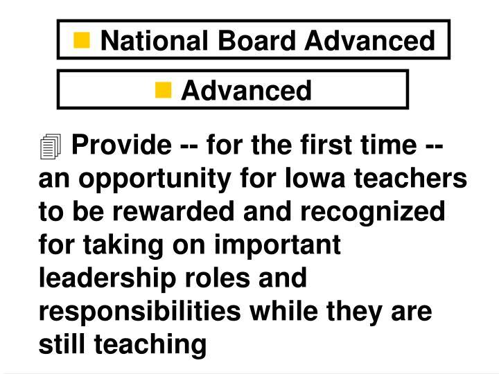 National Board Advanced