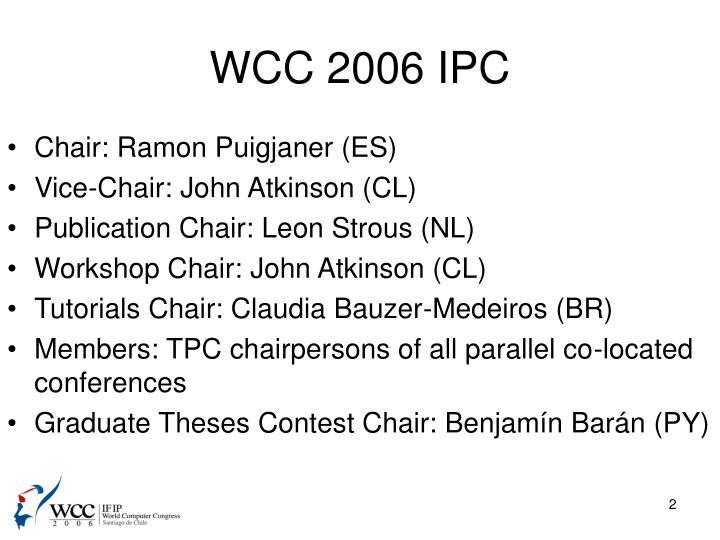 WCC 2006 IPC