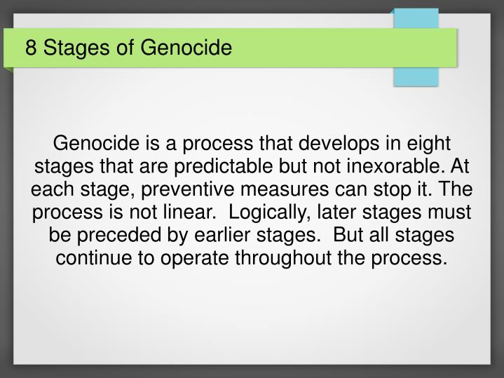 PPT - 8 Stages of Genocide PowerPoint Presentation - ID:5634543