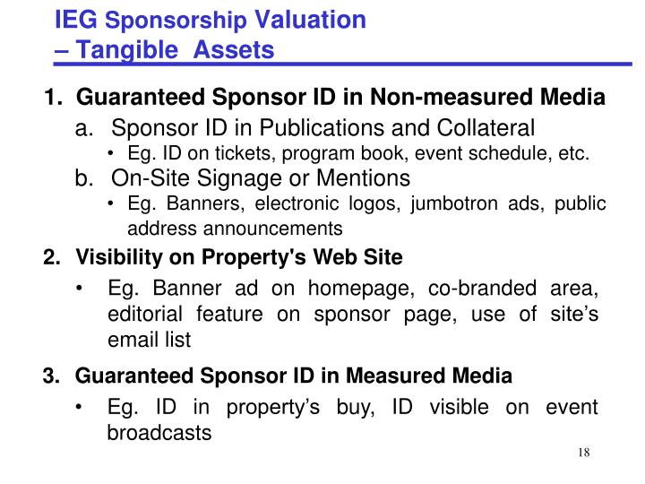 Sponsor ID in Publications and Collateral
