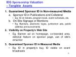 ieg sponsorship valuation tangible assets
