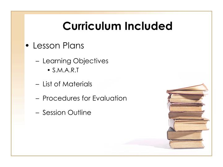 Curriculum Included