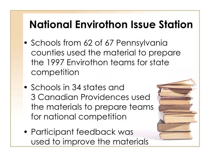 National Envirothon Issue Station