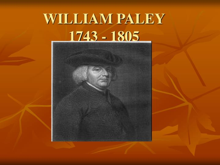 William paley 1743 1805