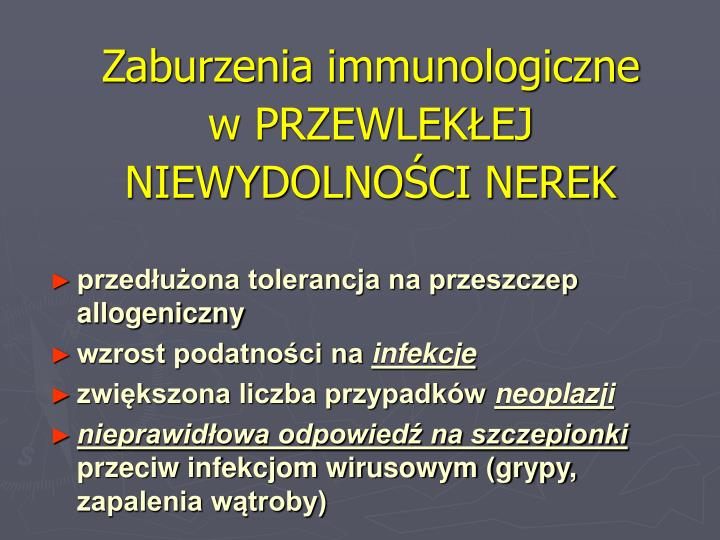 Zaburzenia immunologiczne