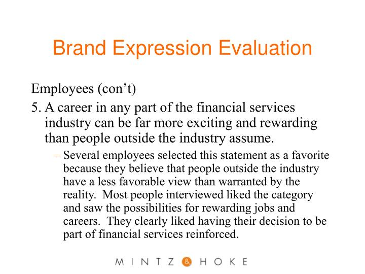 Brand Expression Evaluation