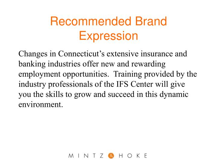 Recommended Brand Expression