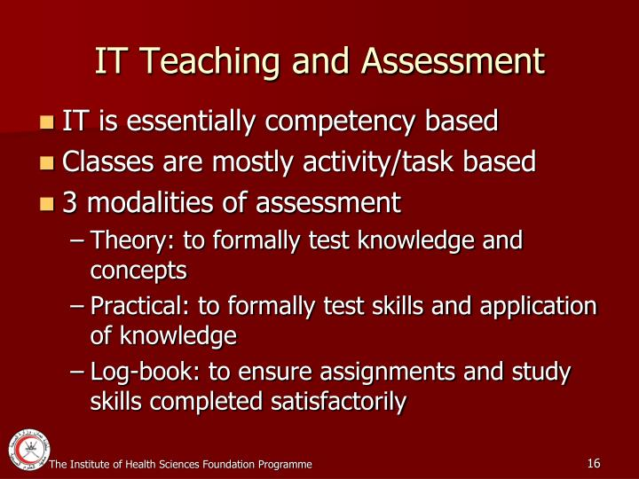 IT Teaching and Assessment
