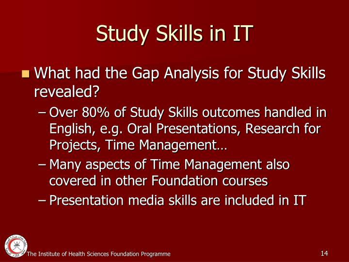 Study Skills in IT