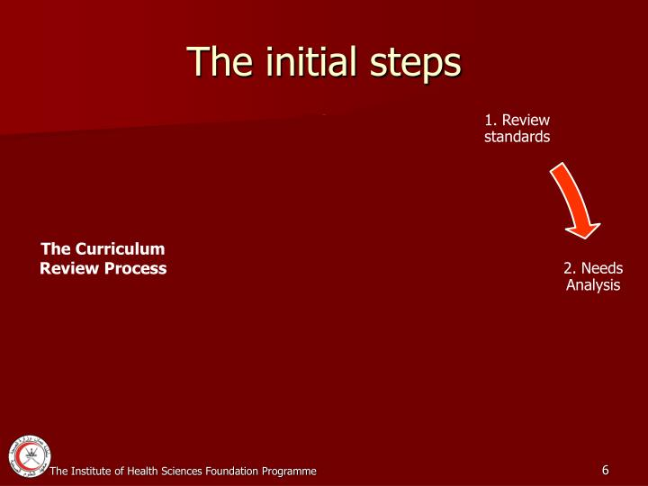 The initial steps