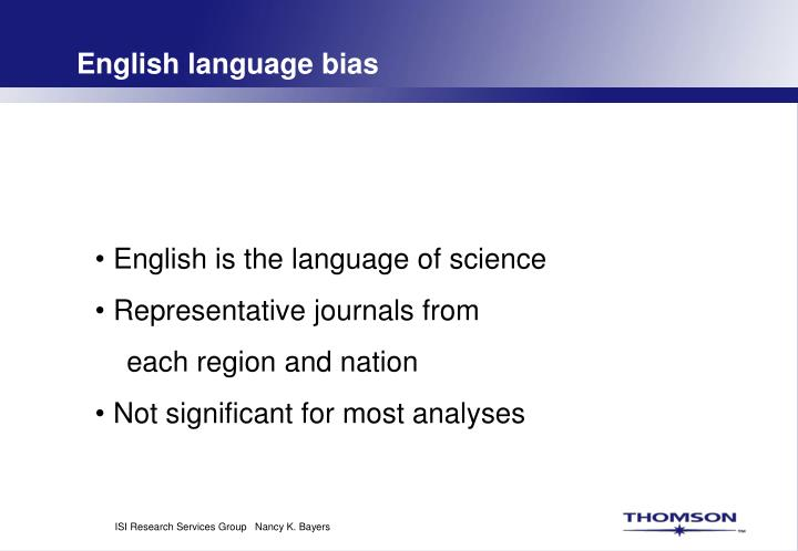 English language bias