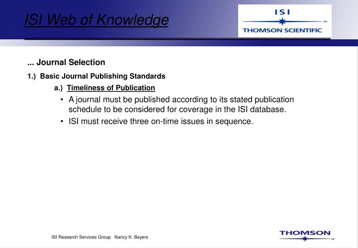ISI Web of Knowledge