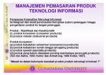 manajemen pemasaran produk teknologi informasi