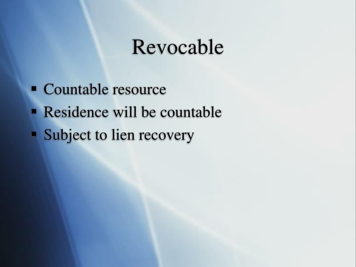 Revocable