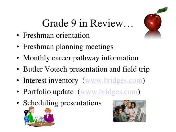 Grade 9 in Review…