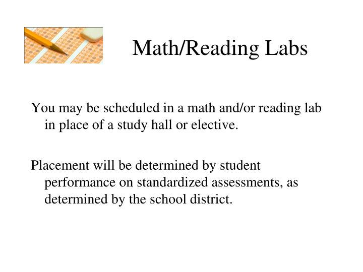 Math/Reading Labs