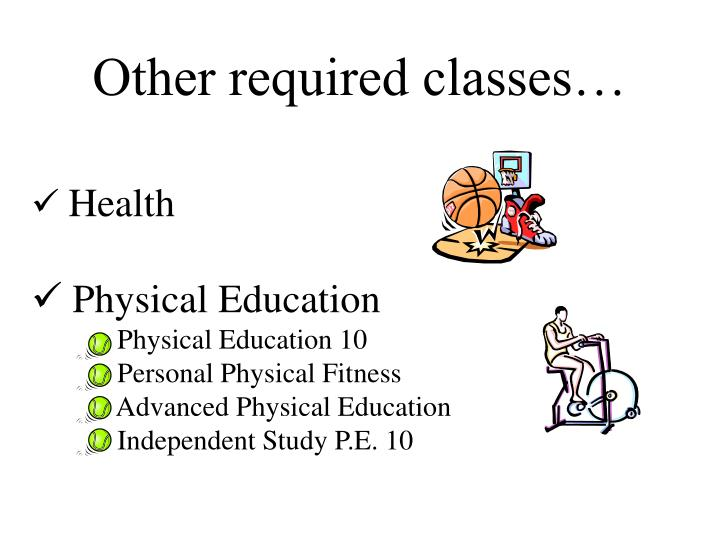 Other required classes…