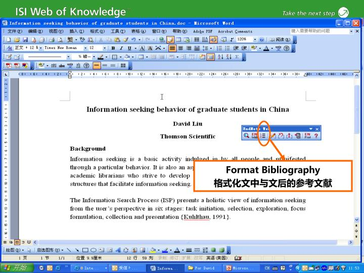 Format Bibliography