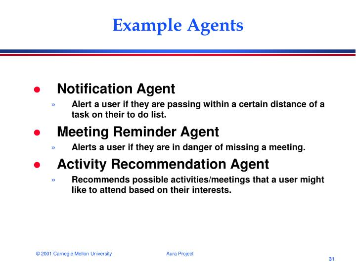 Example Agents