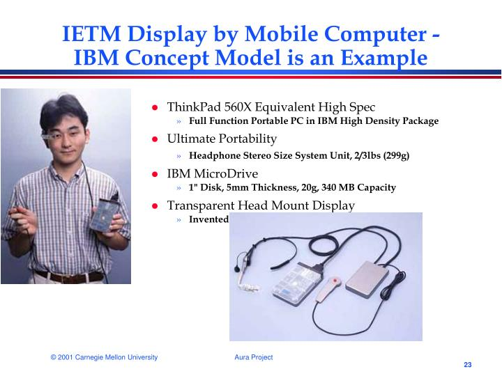 IETM Display by Mobile Computer -