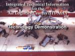 integrated technical information for the air logistics centers iti alc