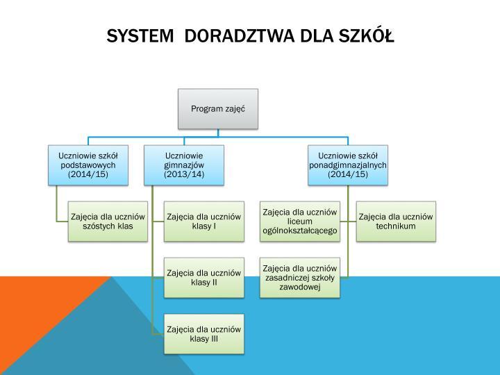System  doradztwa dla szkół