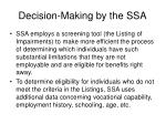 decision making by the ssa