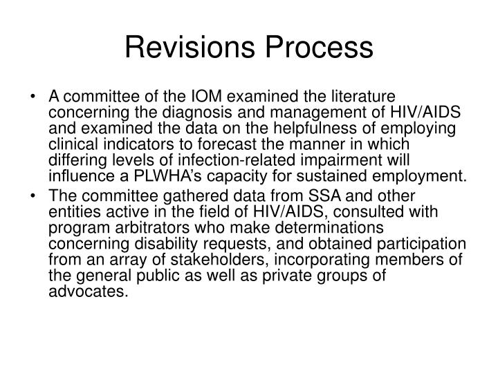 Revisions Process
