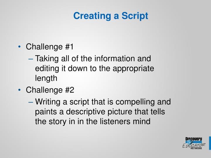 Creating a Script